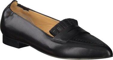 Prange: Schwarze Leder Slipper für Damen von Trumans 807288