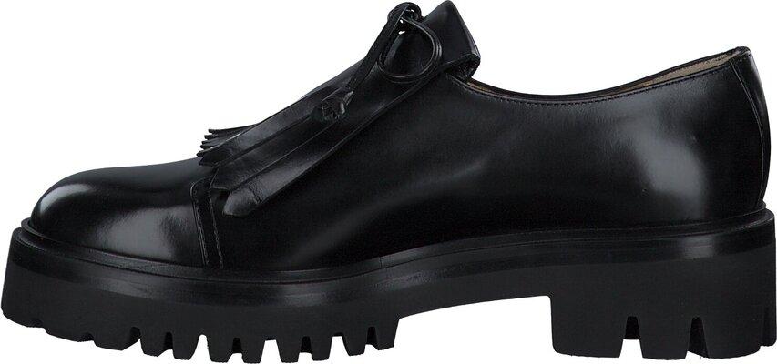 Prange: Schwarze Leder Slipper für Damen von Trumans 807291