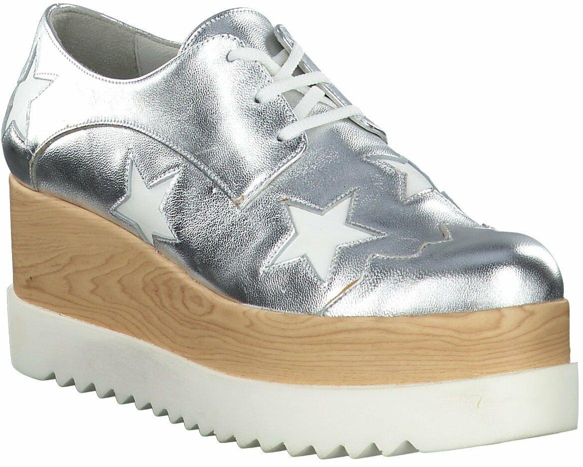 Prange: Silberne Damen Schnürschuhe von Eddie Rodriguez
