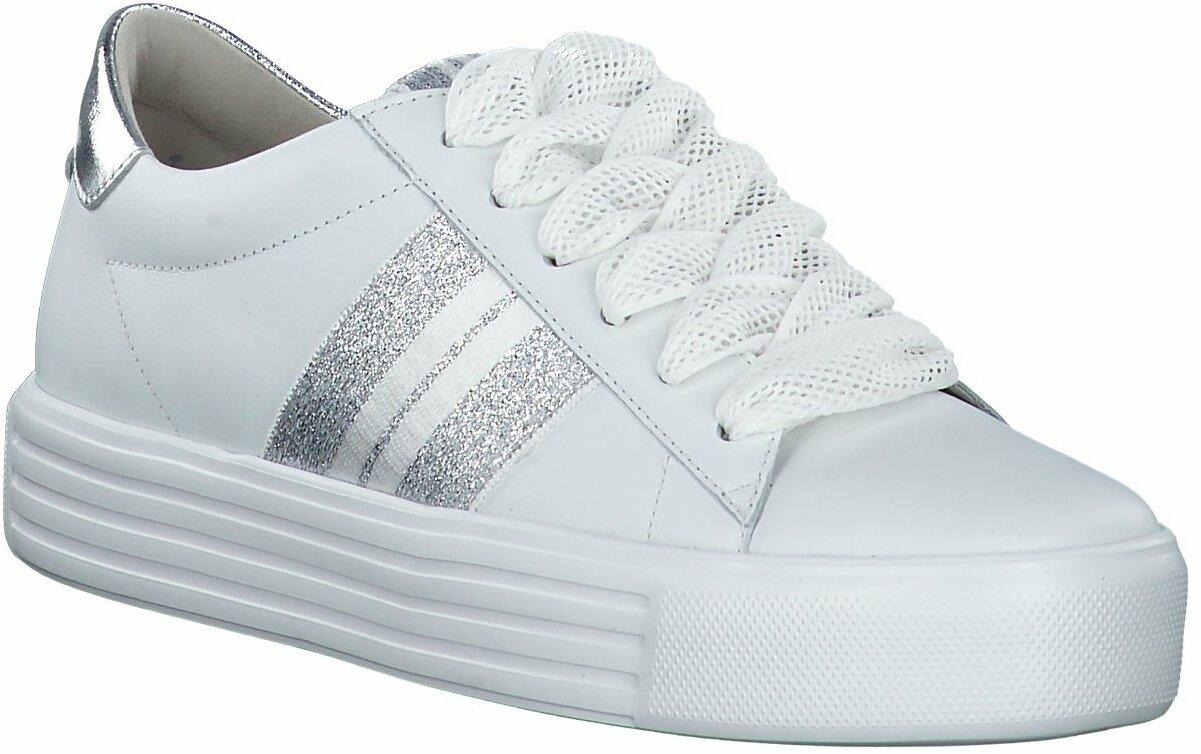 Prange: Weiße Leder Schnürschuhe von Kennel & Schmenger