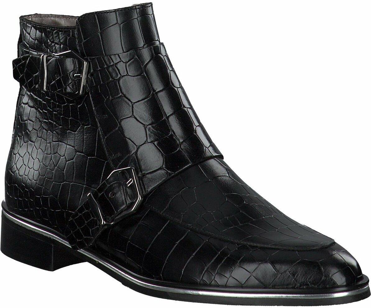 Prange: Schwarze Leder Stiefeletten für Damen von Pertini