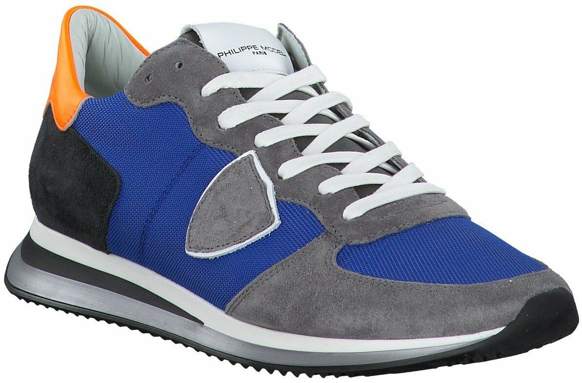 Prange: GrauBlaue Herren Sneaker von Philippe Model 793292