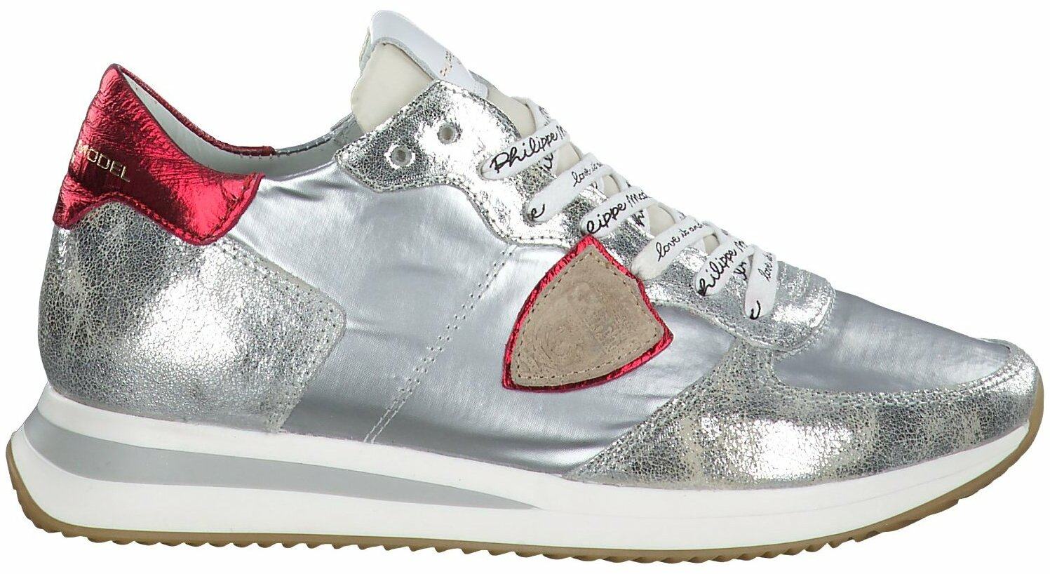 Prange: Silber Schnürschuhe für Damen von Philippe Model