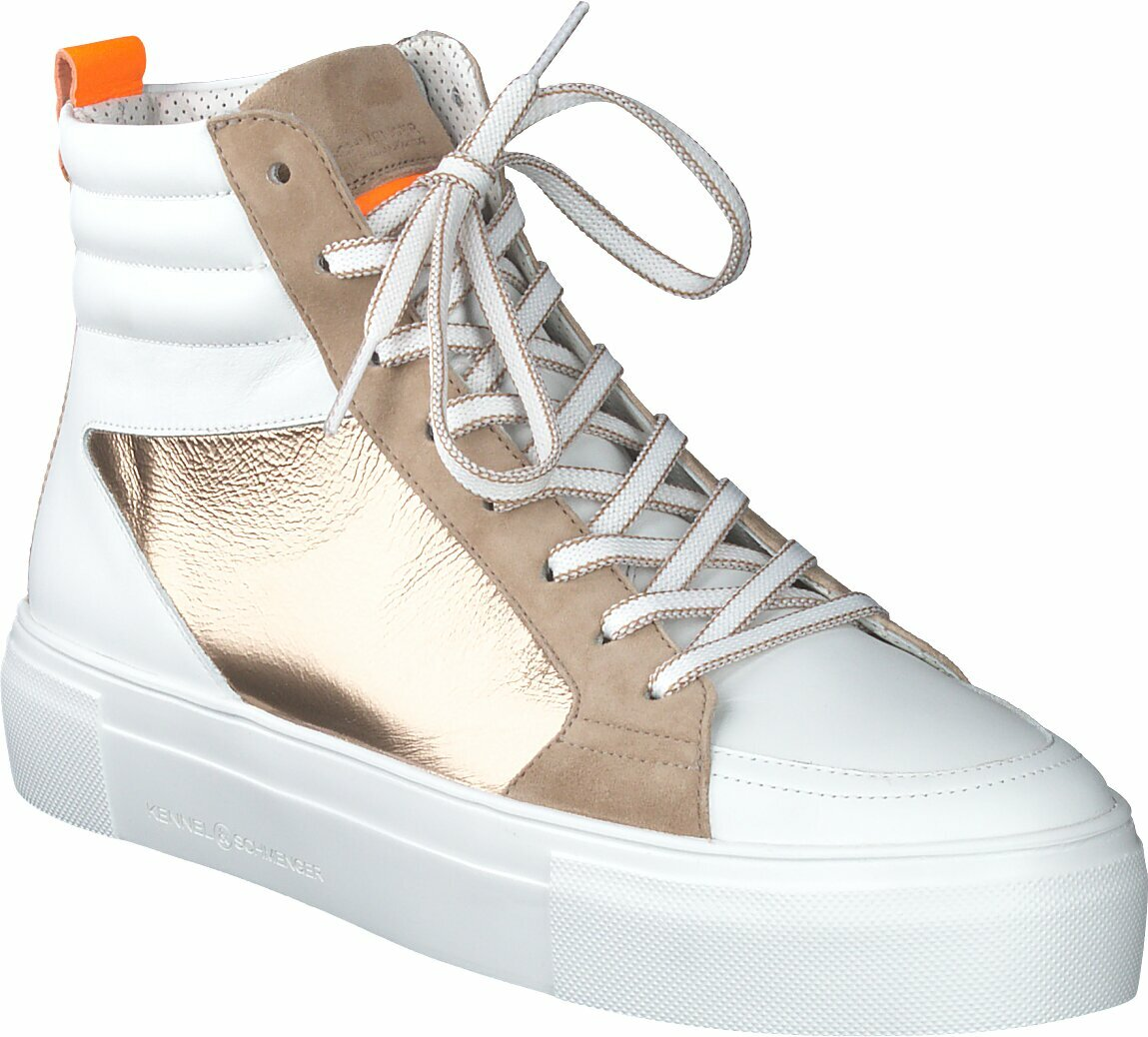 Prange: Weiße High Top Sneaker aus Leder von Kennel